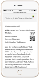 Responsives Webdesign auf iPhone Portrait-Format
